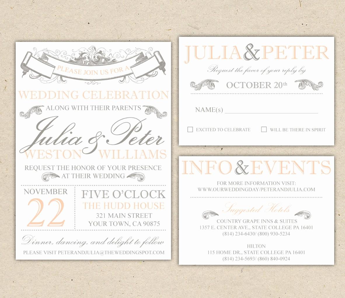 Wedding Invitations Templates Word Free Fresh Free Wedding Invitation Templates for Word