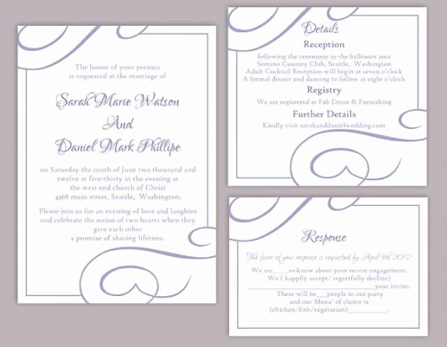 Wedding Invitations Templates Word