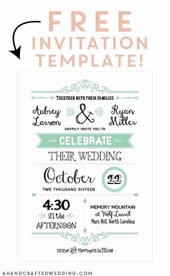 Wedding Invitations Templates Word Free Inspirational Free Printable Wedding Invitation Template