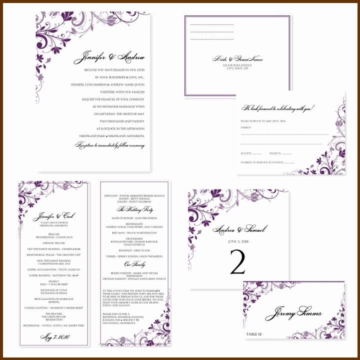 Wedding Invitations Templates Word Free Inspirational Free Wedding Invitation Templates