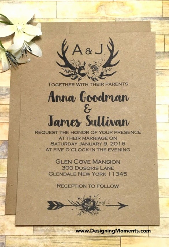 Wedding Invitations Templates Word Free Lovely 21 Country Wedding Invitation Templates Psd Word Ai
