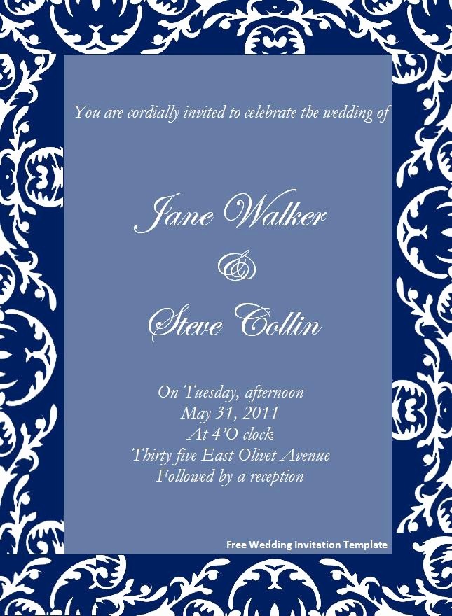 Wedding Invitations Templates Word Free Lovely 645x880 source Mirror