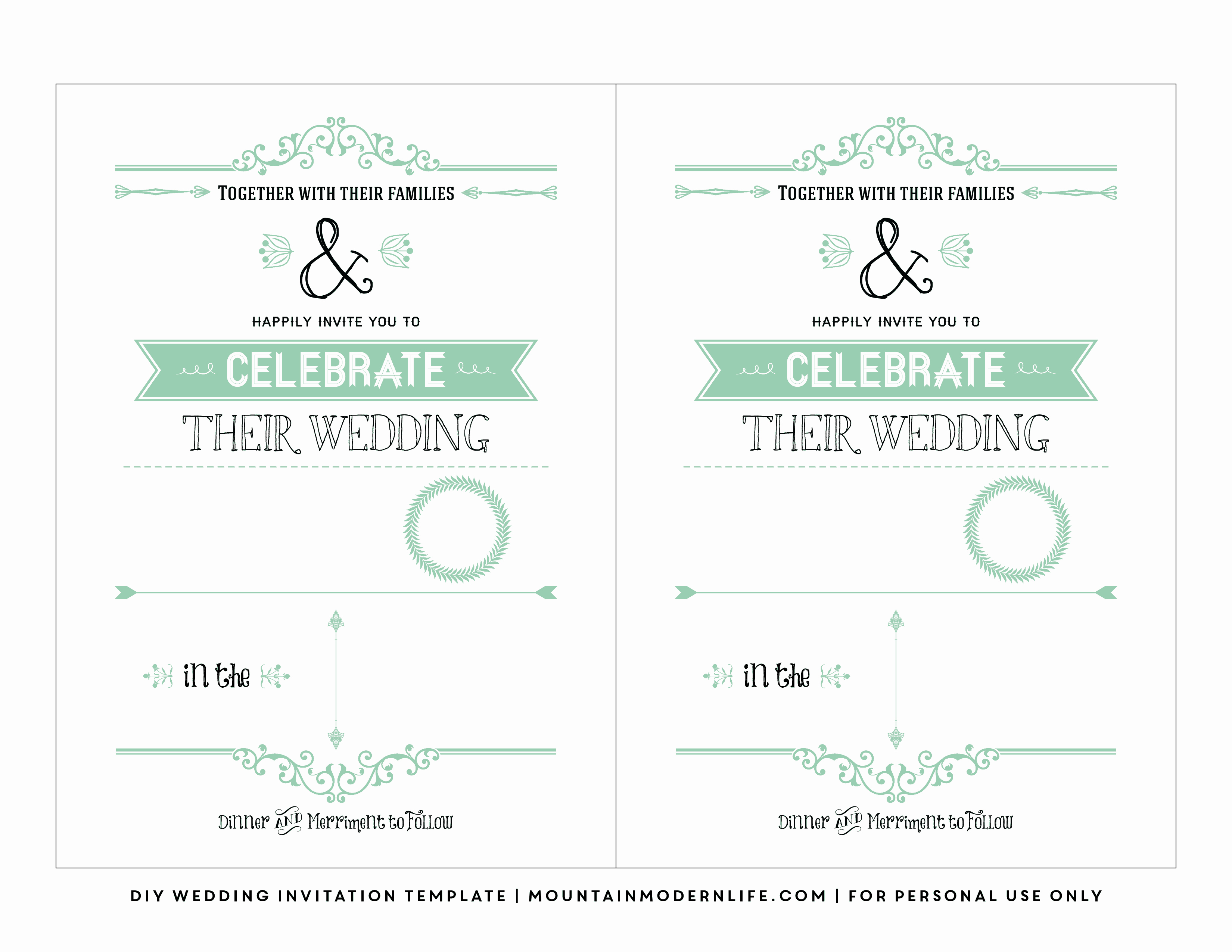 Wedding Invitations Templates Word Free Lovely Free Wedding Invitation Template