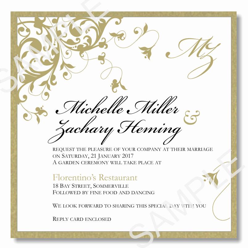 Wedding Invitations Templates Word Free Luxury Wedding Invitations Template Word