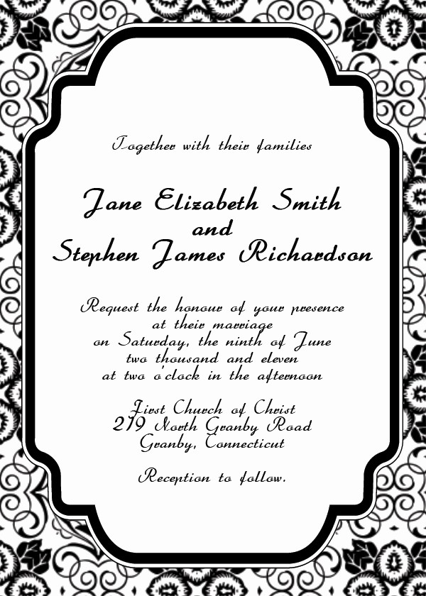 Wedding Invitations Templates Word Free New Free Printable Wedding Invitation Templates
