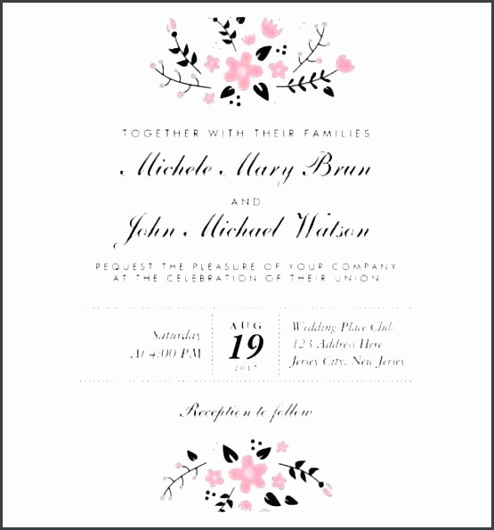 Wedding Invitations Templates Word Free New Wedding Invitations Template Word – iso Certification