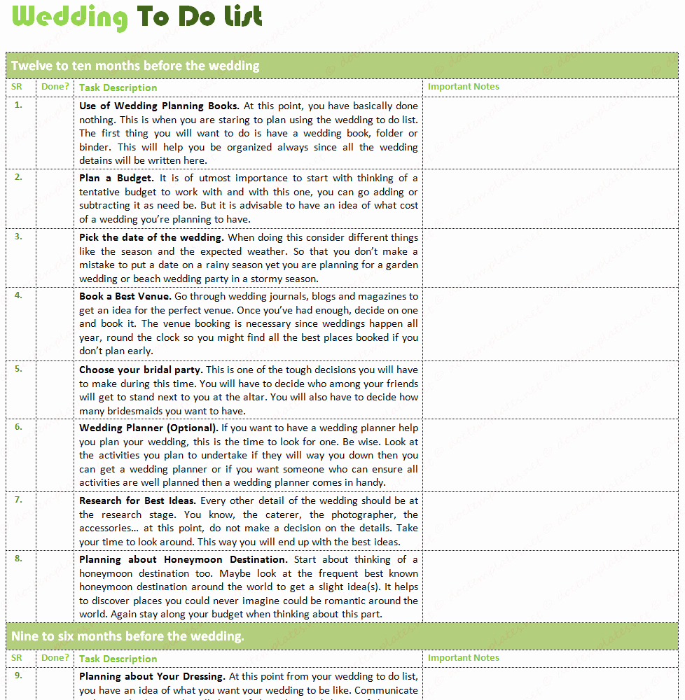 Wedding List to Do Template Inspirational Ultimate Wedding to Do List for Wedding Planning