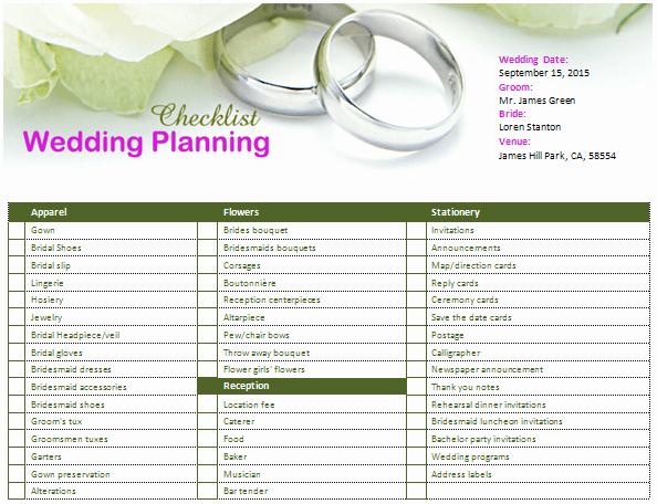 Wedding List to Do Template Luxury Ms Word Wedding Planning Checklist
