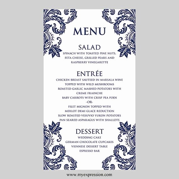 Wedding Menu Template Microsoft Word Beautiful 35 Best Menus Name Cards & Crafting Ideas for Tables