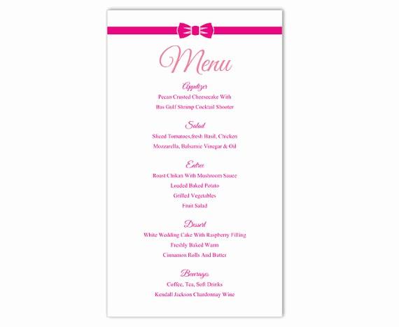 Wedding Menu Template Microsoft Word Beautiful Wedding Menu Template Diy Menu Card Template Editable Text