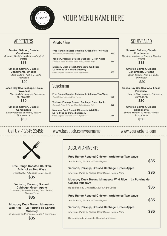 Wedding Menu Template Microsoft Word New Design & Templates Menu Templates Wedding Menu Food