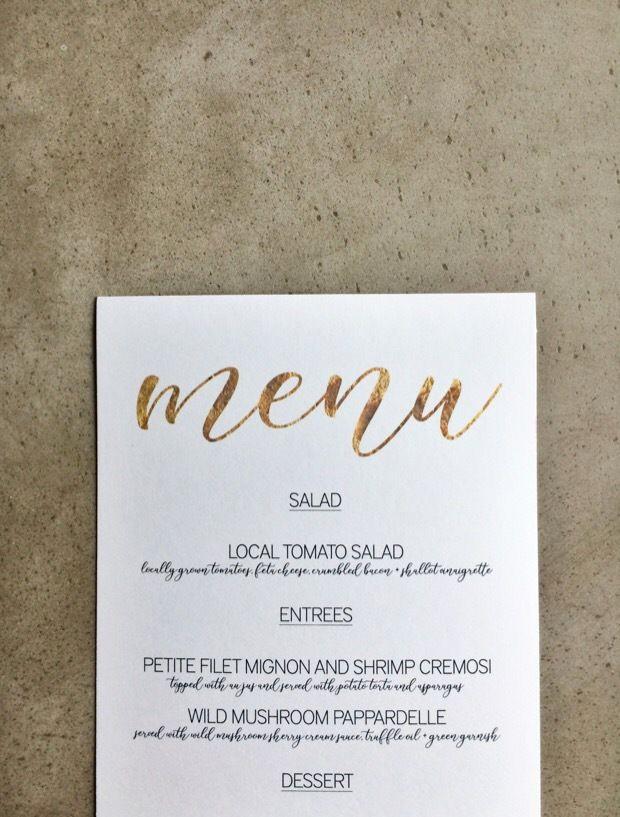 Wedding Menu Template Microsoft Word New Free Download Gold Menu Template