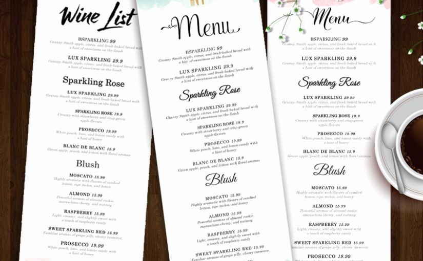 Wedding Menu Template Microsoft Word Unique New Drink Menu Template Microsoft Word – Free Template Design