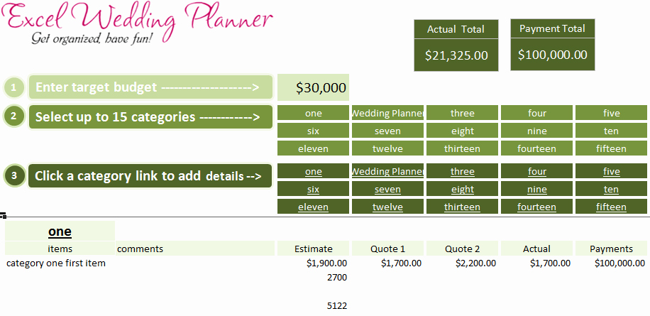 Wedding Planning Timeline Template Excel Beautiful Free Excel Wedding Planner Template Download today