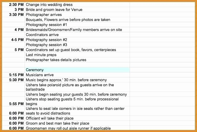 Wedding Planning Timeline Template Excel Best Of Wedding Day Timeline Template Excel Free Schedule