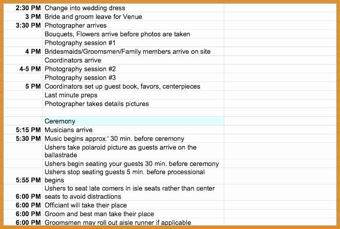 Wedding Planning Timeline Template Excel Best Of Wedding Day Timeline Template Excel Free Schedule
