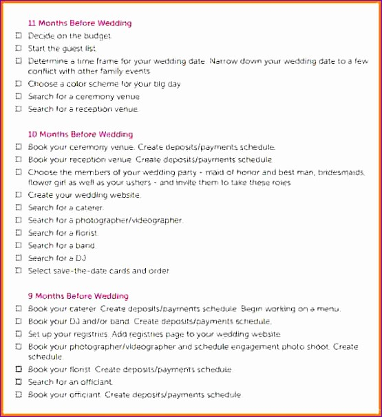 Wedding Planning Timeline Template Excel Fresh 6 Wedding Day Schedule Template Excel Exceltemplates