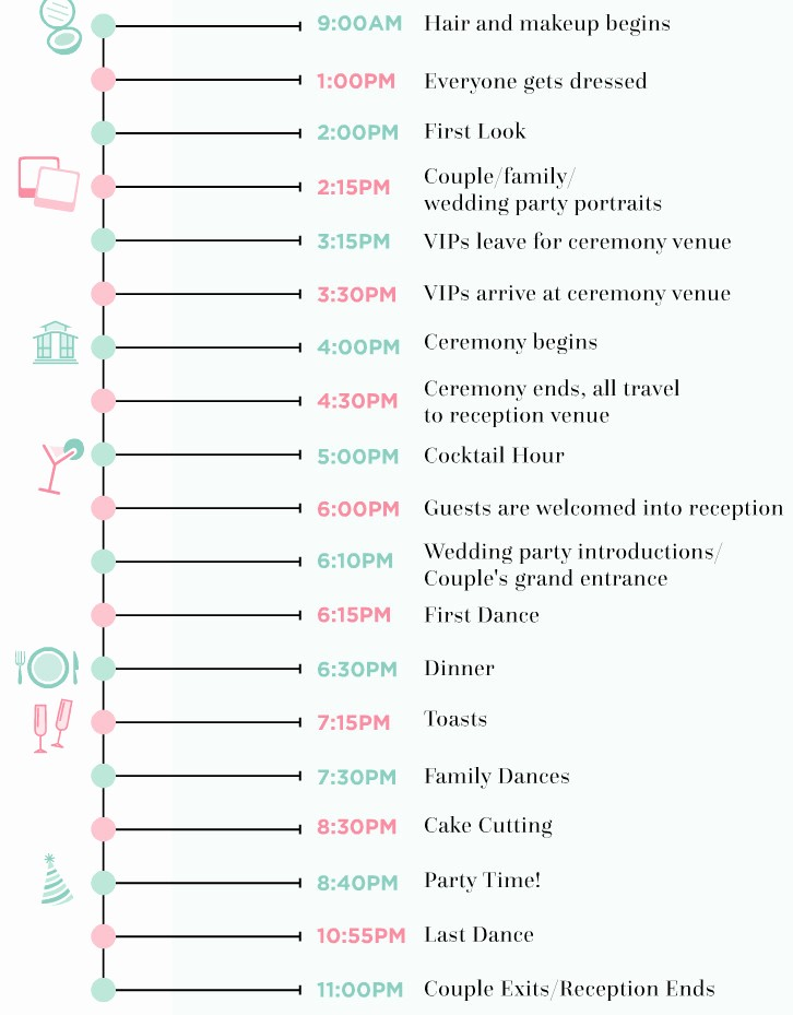 Wedding Planning Timeline Template Excel Fresh 9 Wedding Day Timeline Rules Every Couple Should Follow