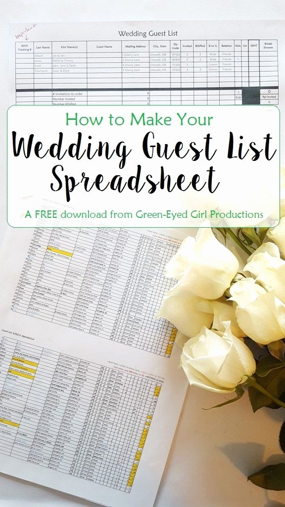 Wedding Planning Timeline Template Excel Inspirational How to Make Your Wedding Guest List Spreadsheet Free