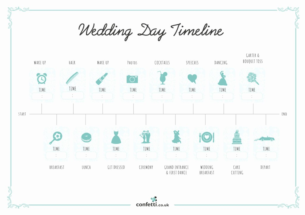Wedding Planning Timeline Template Excel Inspirational Wedding Day Timeline Free Printable Guide Confetti