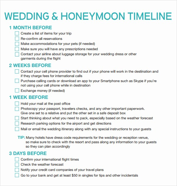 Wedding Planning Timeline Template Excel Luxury Free Printable Wedding Timeline Template