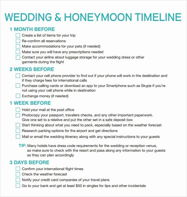 Wedding Planning Timeline Template Excel Luxury Free Printable Wedding Timeline Template
