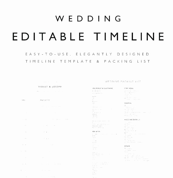 Wedding Planning Timeline Template Excel New Printable Wedding Day Timeline Schedule Template Violet