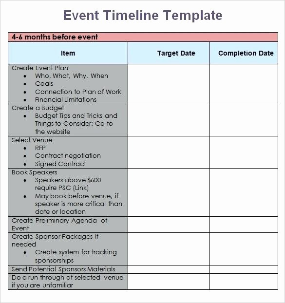 Wedding Planning Timeline Template Excel Unique Free event Planning Timeline Template Download Checklist