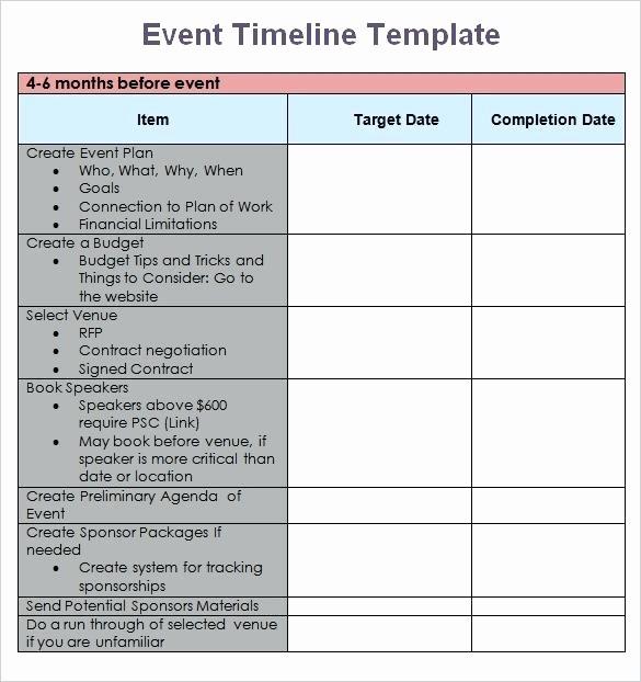 Wedding Planning Timeline Template Excel Unique Free event Planning Timeline Template Download Checklist