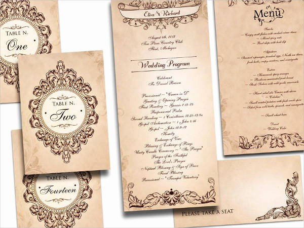 Wedding Programs Templates Free Download Awesome Free Wedding Program Templates 9 Free Psd Vector Ai