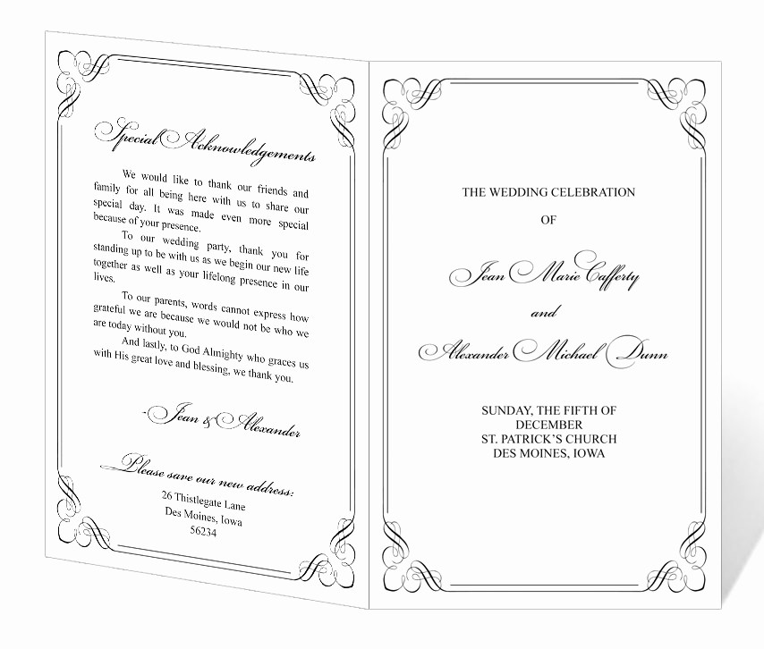 Wedding Programs Templates Free Download Beautiful Wedding Program Template Printable Instant Download