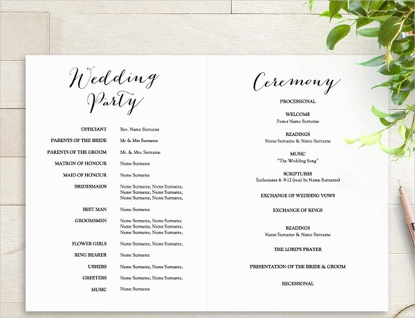 Wedding Programs Templates Free Download Best Of 25 Wedding Program Templates Free Psd Ai Eps format