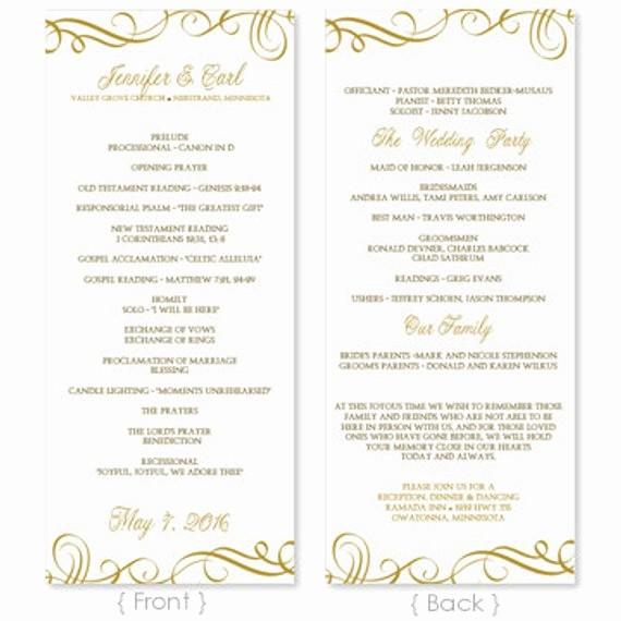 Wedding Programs Templates Free Download Elegant Wedding Program Template Download Instantly by Karmakweddings