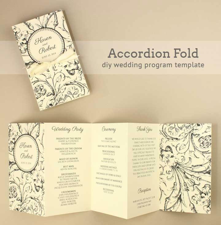 Wedding Programs Templates Free Download Fresh Diy Tutorial Free Printable Folded Wedding Program Boho