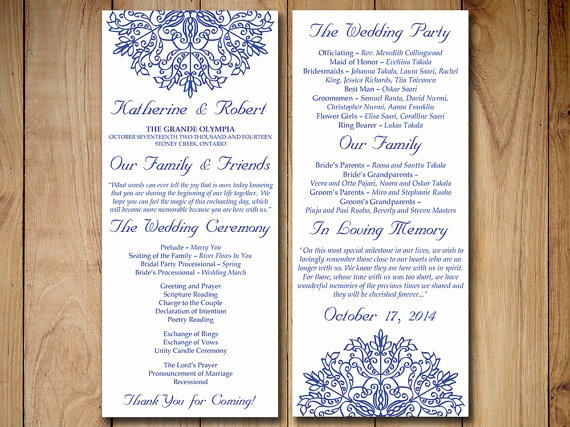 Wedding Programs Templates Free Download Fresh Wedding Program Template Download order From