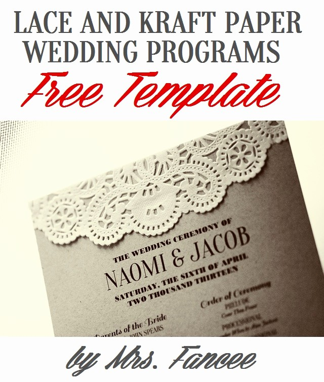 Wedding Programs Templates Free Download Fresh Wedding Program Template Mrs Fancee