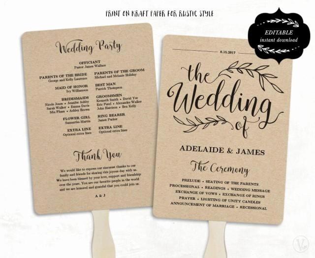 Wedding Programs Templates Free Download Inspirational Printable Wedding Program Template Fan Wedding Program