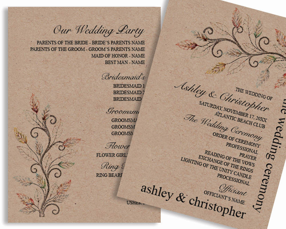 Wedding Programs Templates Free Download Inspirational Rustic Diy Ideas for Planning Your Dream Wedding – Vg
