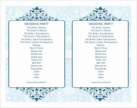 Wedding Programs Templates Free Download Inspirational Wedding Program Template 41 Free Word Pdf Psd