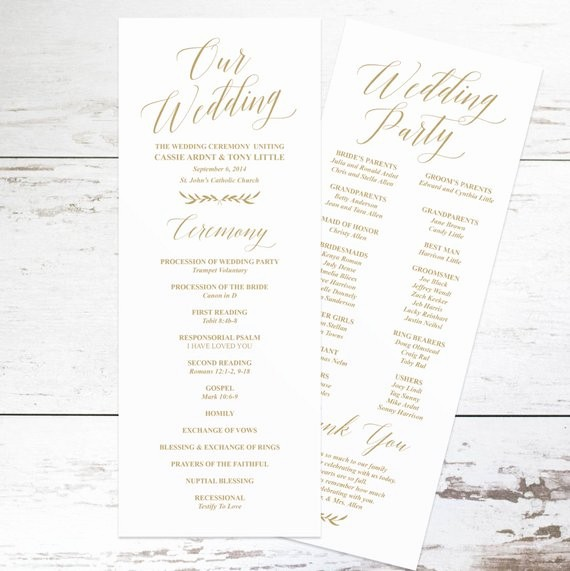 Wedding Programs Templates Free Download Luxury Gold Wedding Programs Wedding Program Template Rustic