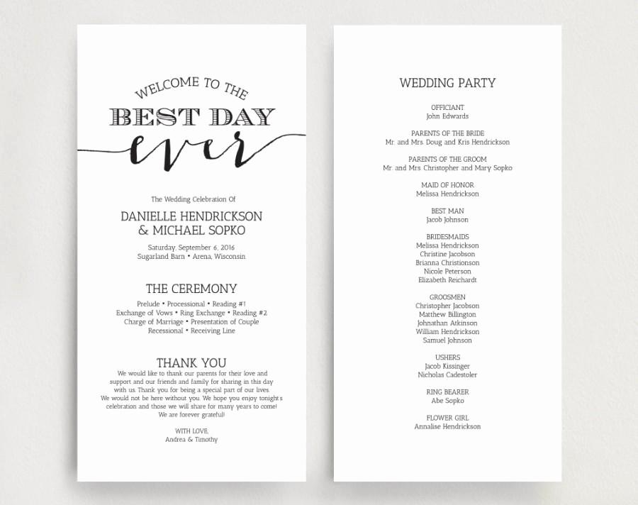 Wedding Programs Templates Free Download Luxury Wedding Programs Wedding Program Instant Download