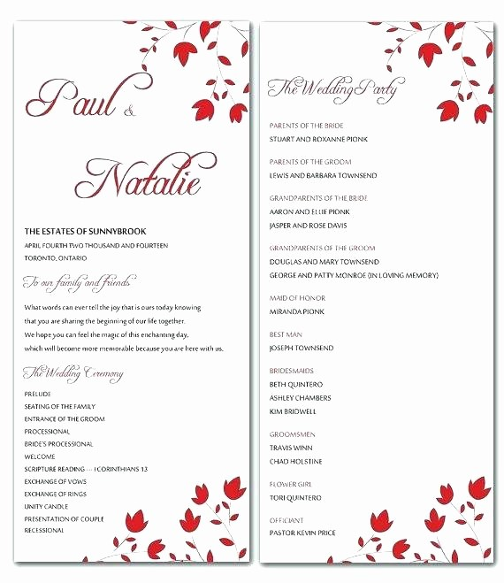 Wedding Programs Templates Free Download New Wedding Program Samples Printable Free Ceremony Template