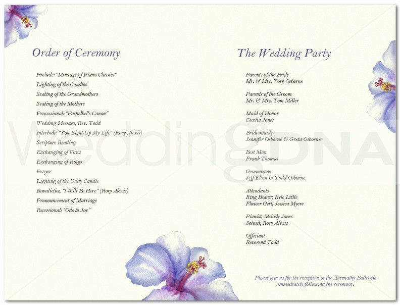 Wedding Programs Templates Free Download Unique Free and Cute Wedding Program Templates