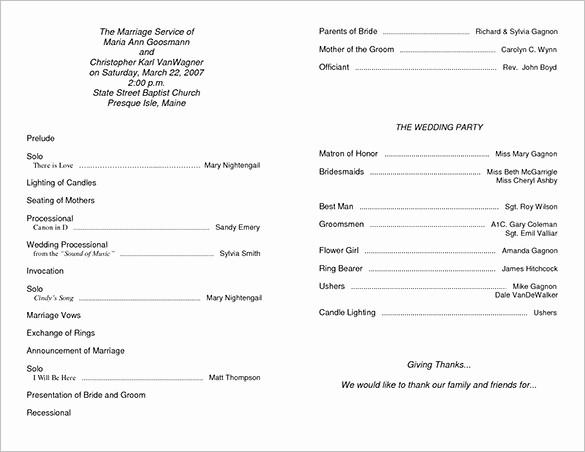 Wedding Programs Templates Free Download Unique Wedding Ceremony Program Template 36 Word Pdf Psd