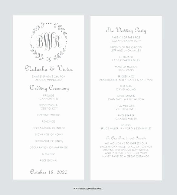 Wedding Programs Templates Free Download Unique Wedding Reception Program Party Template Well 7 Templates