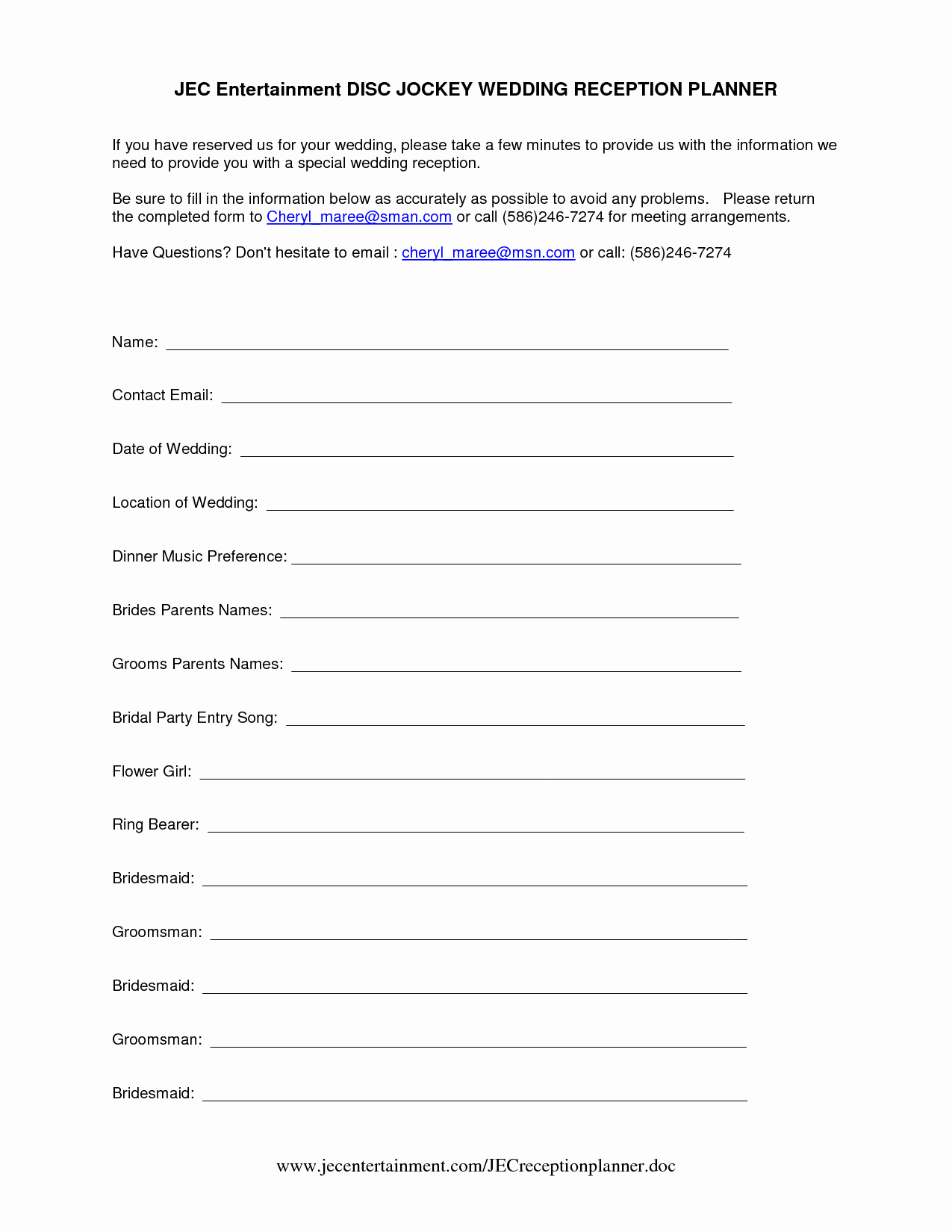 Wedding Reception song List Template Best Of Template Sample Wedding Reception Itinerary
