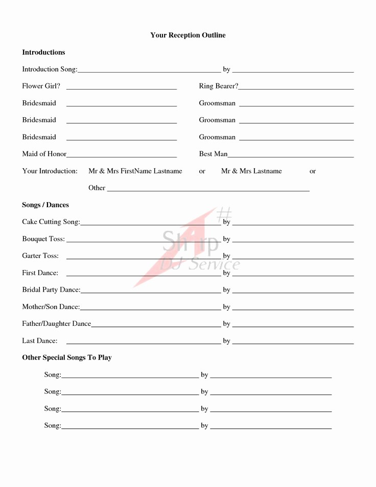 Wedding Reception song List Template Luxury 58 Best Planner Book Images On Pinterest
