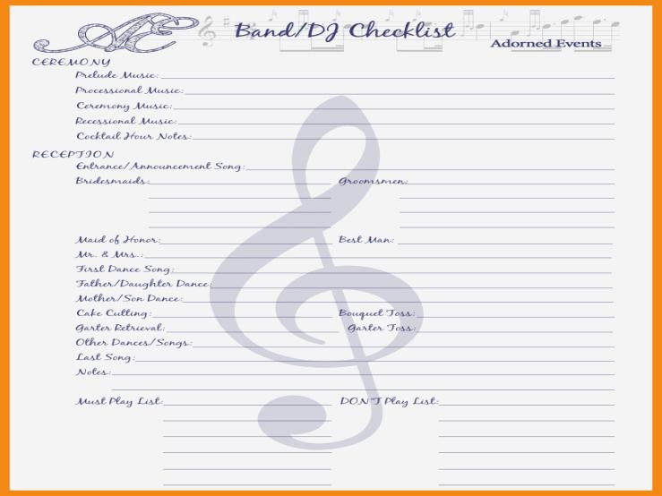Wedding Reception song List Template Luxury attending List songs for Wedding Reception Can Be A