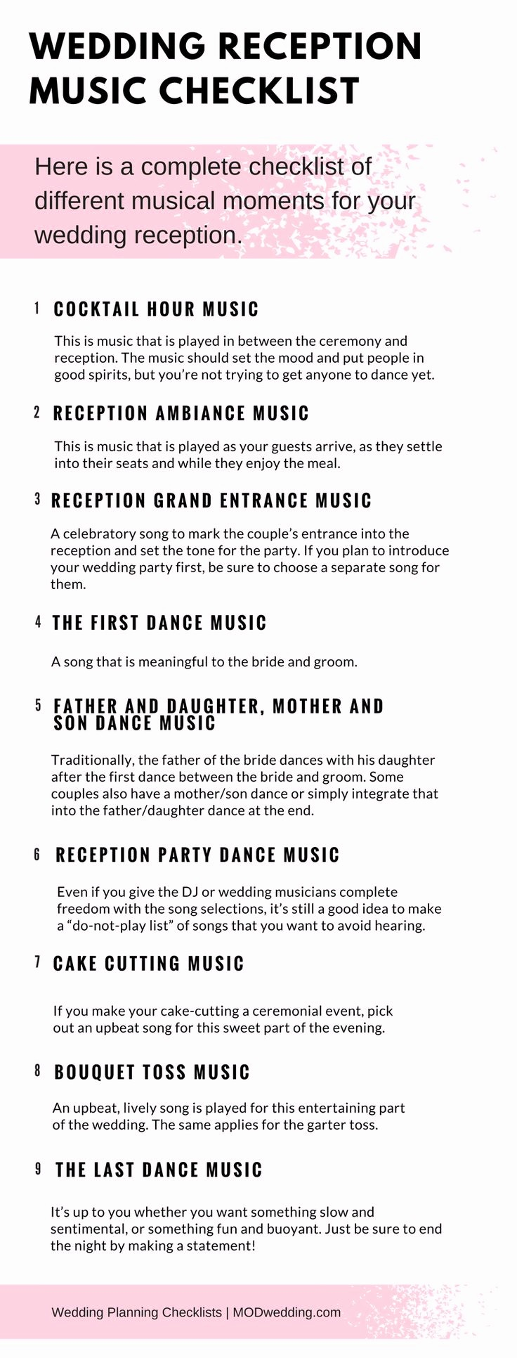 Wedding Reception song List Template Unique the 25 Best Wedding Checklist Template Ideas On Pinterest