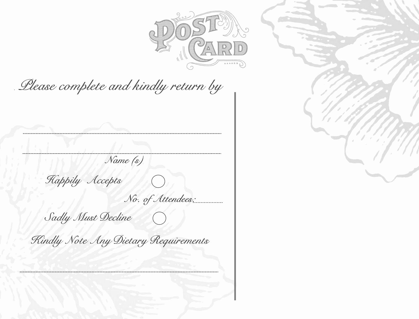 Wedding Response Card Template Free Best Of Free Printable Wedding Response Card Template Wedding Rsvp